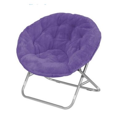 Faux Fur Papasan Chair Color: Purple