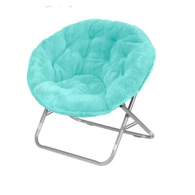 Faux Fur Papasan Chair Color: Aqua