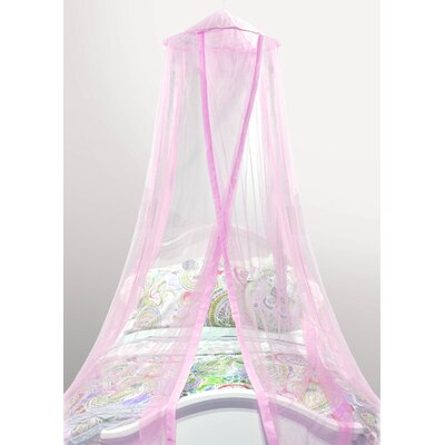 Gilberto Satin Trim Kids Bed Canopy Color: Pink