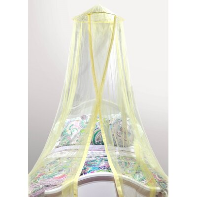 Gilberto Satin Trim Kids Bed Canopy Color: Yellow