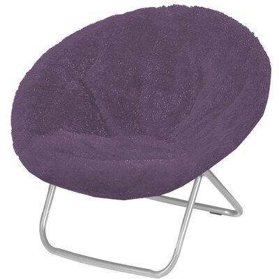 Hilaria Oversized Papasan Chair Upholstery: Aubergine