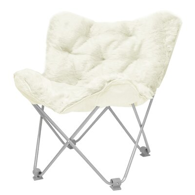 Hilde Butterfly Papasan Chair Upholstery: Ivory
