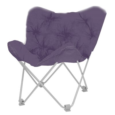 Hilde Butterfly Papasan Chair Upholstery: Aubergine