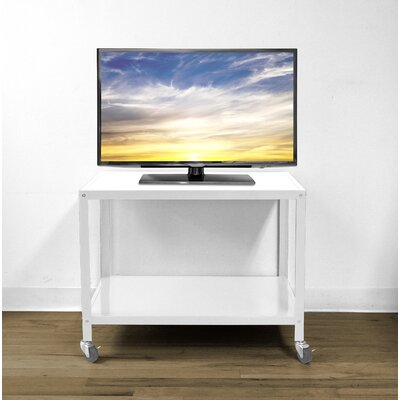 Bibbs Metallic Rolling 26 TV Stand Color: White