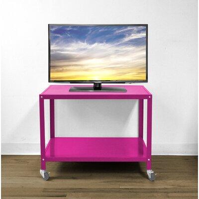 Bibbs Metallic Rolling 26 TV Stand Color: Pink