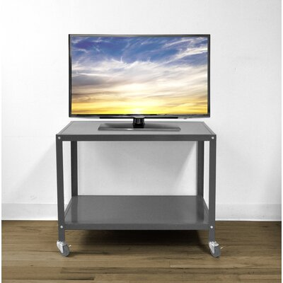 Bibbs Metallic Rolling 26 TV Stand Color: Gray