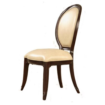 Mid Town Genuine Leather Upholstered Dining Chair (Set of 2)