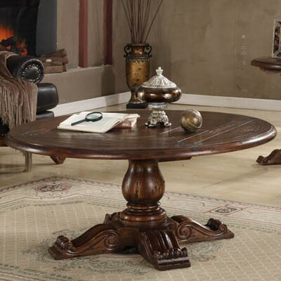 Burgundy Coffee Table Size: 48