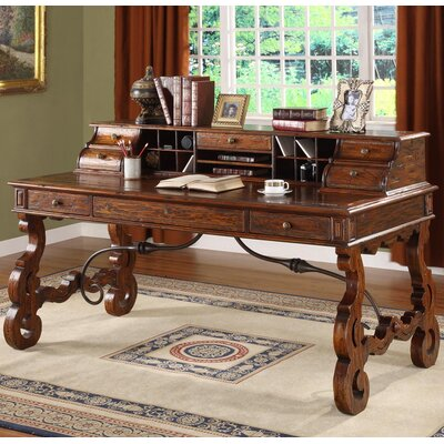 Writing Desk Hutch Burgundy Product Picture 163