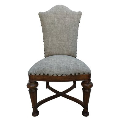 Aspen Road Upholstered Dining Chair (Set of 2) Upholstery: Gray
