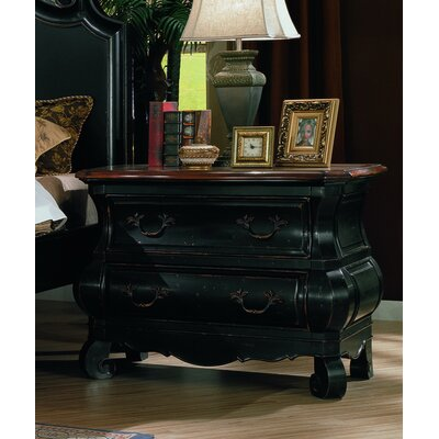 Liege Bombe 2 Drawer Nightstand