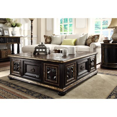 Aspen Road Square Coffee Table Finish: Black