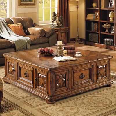 Aspen Road Coffee Table with Storage Color: Brown