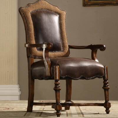 Burgundy Genuine Leather Upholstered Dining Chair (Set of 2)