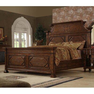 Burgundy King Panel Bed
