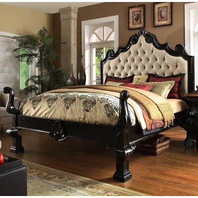 Liege Eastern King Upholstered Panel Bed