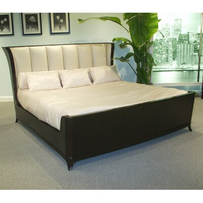 Mid Town King Upholstered Platform Bed Color: Ivory