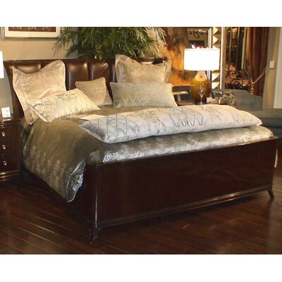 Mid Town King Upholstered Platform Bed Color: Brown
