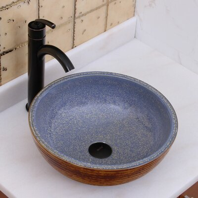 Elite Ceramic Circular Vessel Bathroom Sink Drain Finish: Oil Rubbed Bronze