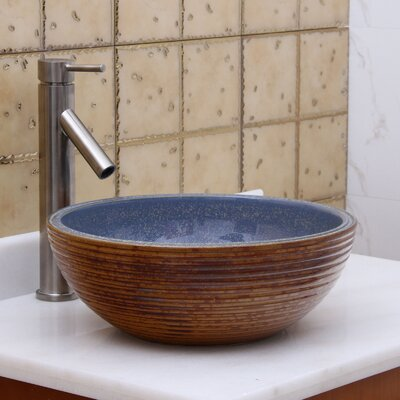 Ribbed Exterior Circular Vessel Bathroom Sink Drain Finish: Brushed Nickel