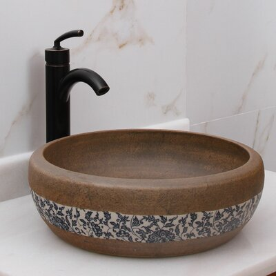 Floral Trim on Terra Porcelain Circular Vessel Bathroom Sink Drain Finish: Oil Rubbed Bronze