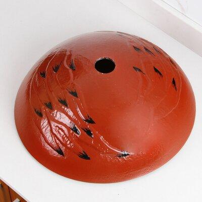 Elite Glass Circular Vessel Bathroom Sink Drain Finish: Oil Rubbed Bronze