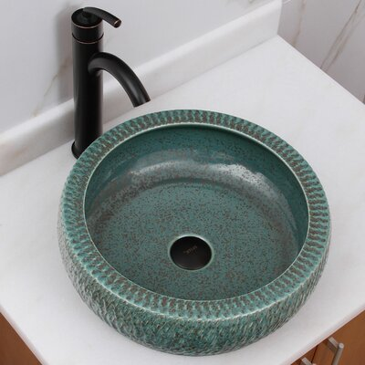 Rippled Mossy Waters Circular Vessel Bathroom Sink Drain Finish: Oil Rubbed Bronze
