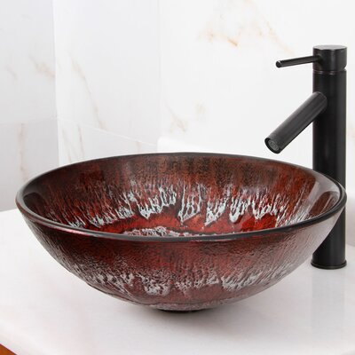 Elite Artic Ruby Circular Vessel Bathroom Sink Drain Finish: Oil Rubbed Bronze
