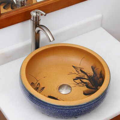 Elite Pond and Garden Circular Vessel Bathroom Sink Drain Finish: Chrome