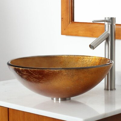 Elite Foil Circular Vessel Bathroom Sink Drain Finish: Brushed Nickel