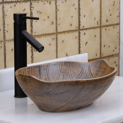 Autumn Leaf Oval Vessel Bathroom Sink Drain Finish: Oil Rubbed Bronze