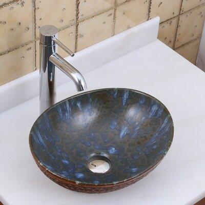 Elite Water Dew on Rocks Oval Vessel Bathroom Sink Drain Finish: Chrome