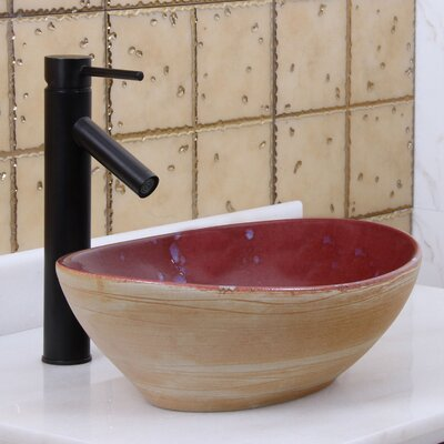 Elite Rustic Velvet Oval Vessel Bathroom Sink Drain Finish: Oil Rubbed Bronze