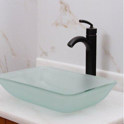 Elite Glass Rectangular Vessel Bathroom Sink Drain Finish: Oil Rubbed Bronze