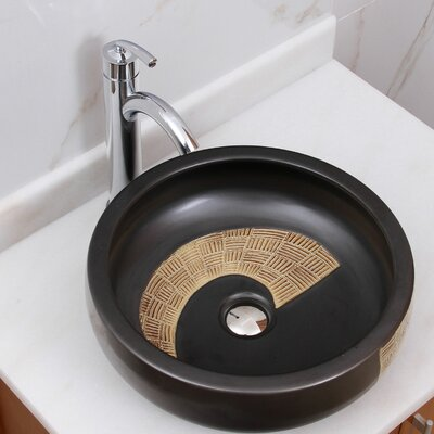 Bamboo Weave Block Circular Vessel Bathroom Sink Drain Finish: Chrome