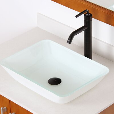 Elite Double Layered Rectangular Vessel Bathroom Sink Drain Finish: Oil Rubbed Bronze