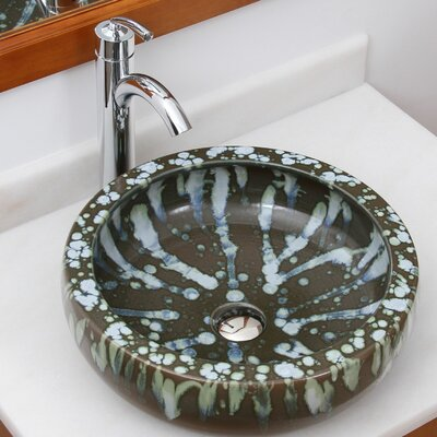 Drip and Run Circular Vessel Bathroom Sink Drain Finish: Chrome