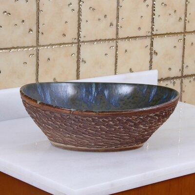 Elite Water Dew on Rocks Oval Vessel Bathroom Sink Drain Finish: Brushed Nickel