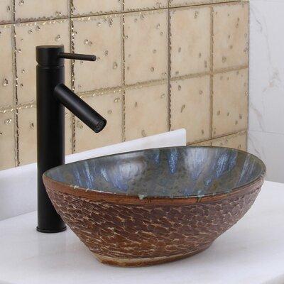 Elite Ceramic Oval Vessel Bathroom Sink Drain Finish: Oil Rubbed Bronze