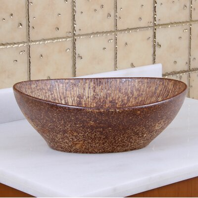 Elite Tattered Cedar Porcelain Oval Vessel Bathroom Sink Drain Finish: Oil Rubbed Bronze