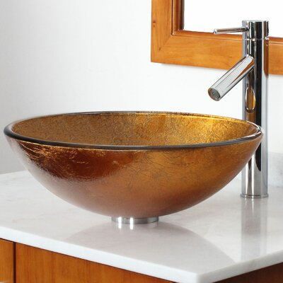 Elite Foil Circular Vessel Bathroom Sink Drain Finish: Chrome