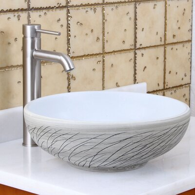 Elite Grass Blowing in the Wind Circular Vessel Bathroom Sink Drain Finish: Brushed Nickel