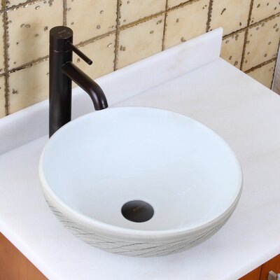 Elite Grass Blowing in the Wind Circular Vessel Bathroom Sink Drain Finish: Oil Rubbed Bronze