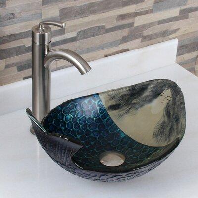 Elite Ivan Merman Oval Vessel Bathroom Sink Drain Finish: Brushed Nickel