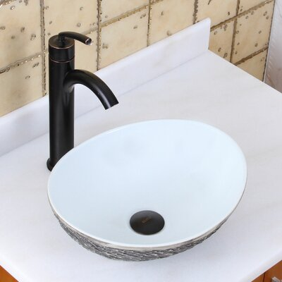 Elite Ceramic Oval Vessel Bathroom Sink Drain Finish: Oil Rubbed Bronze