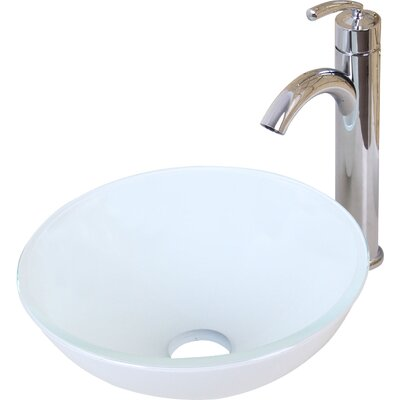 Elite Ceramic Circular Vessel Bathroom Sink Drain Finish: Chrome