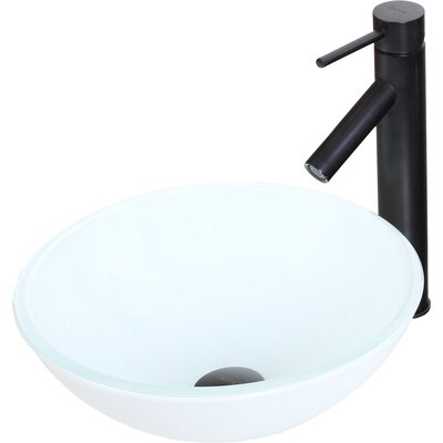 Elite Double Layered Tempered Circular Vessel Bathroom Sink Drain Finish: Oil Rubbed Bronze