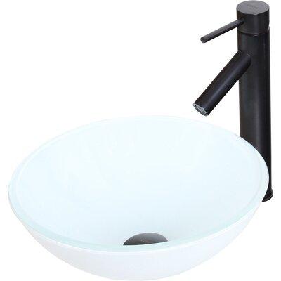 Elite Ceramic Circular Vessel Bathroom Sink Drain Finish: Oil Rubbed Bronze