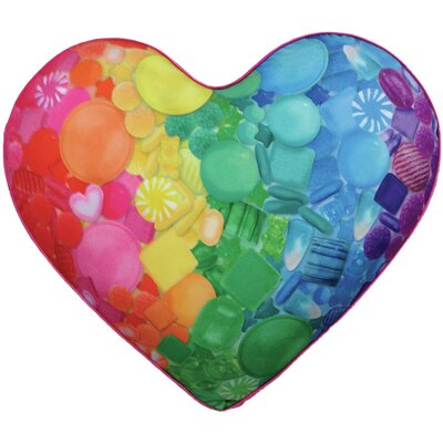 Sugar Heart Plush Microbead Throw Pillow