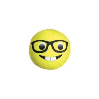 Wingil Nerd Emoticon Microbead Throw Pillow